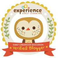 Experience Early Learning Verified Blogger badge with owl