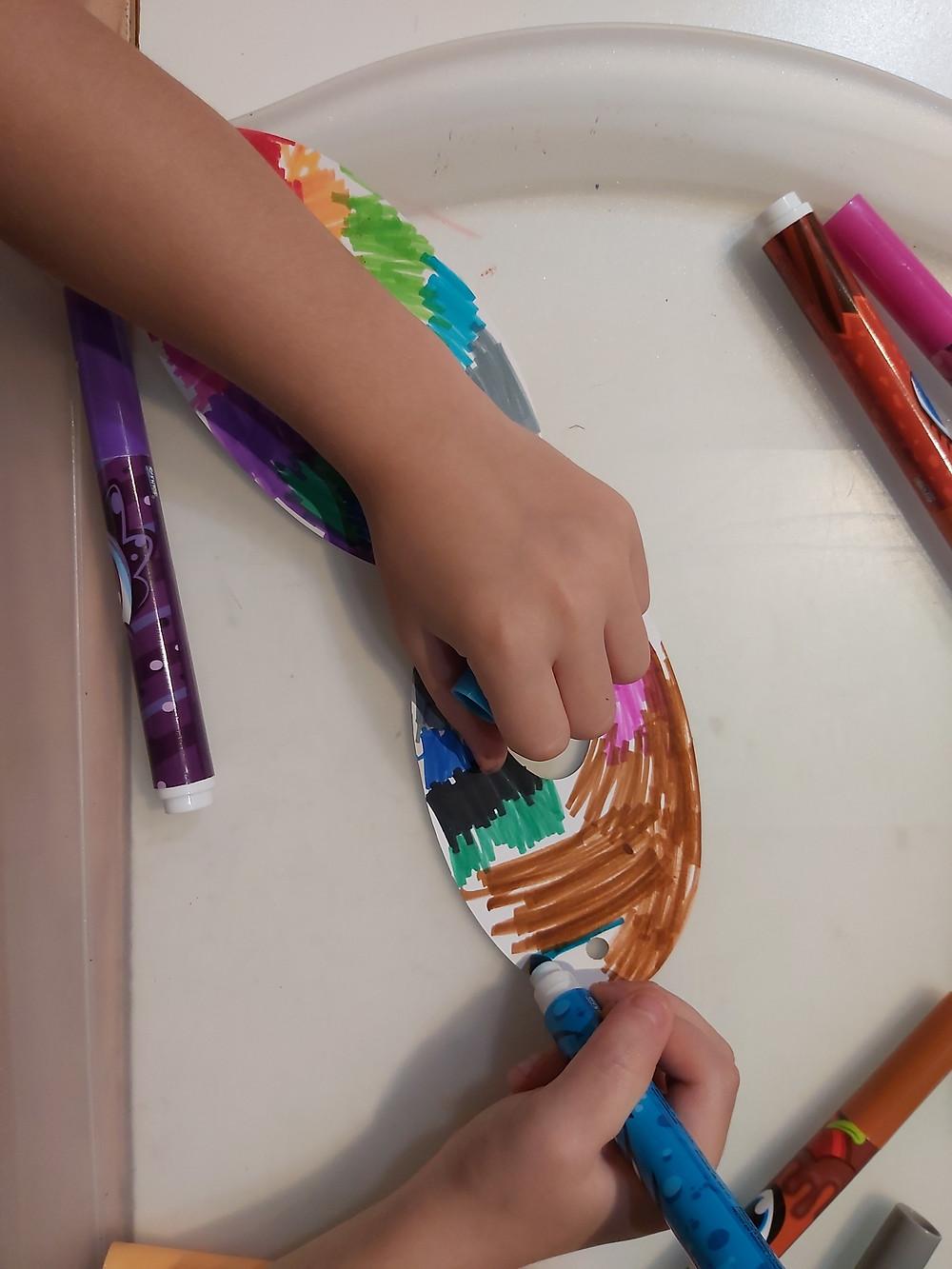 preschooler coloring superhero mask