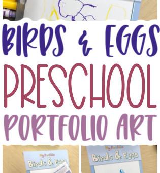 Birds & Eggs Portfolio Art for Preschoolers
