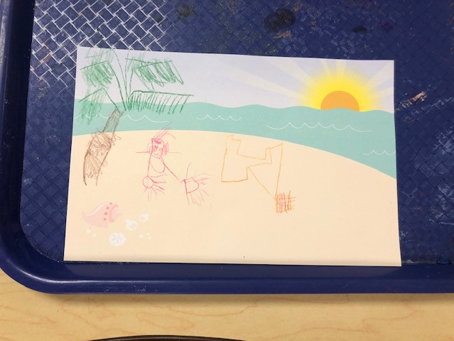 postcard art made by a preschooler