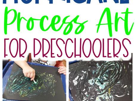 Hurricane Process Art for Preschoolers