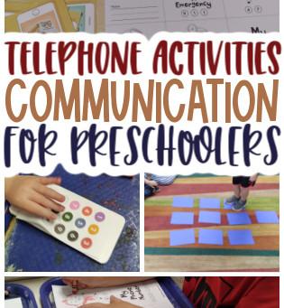 Telephone Activities for Preschoolers