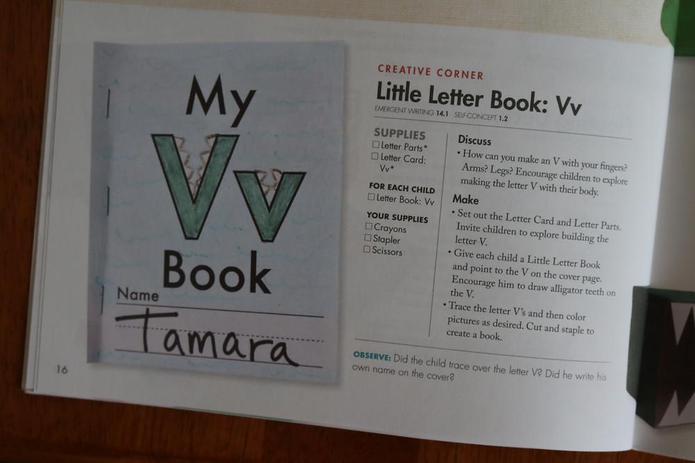 Little Letter Book: Vv from Teacher Guide