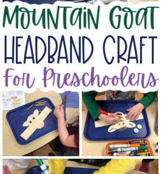 Mountain Goat Headband Preschool Craft
