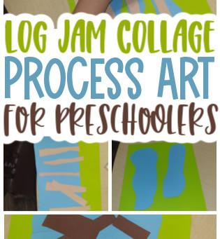 Log Jam Invitation to Create Process Art Experience