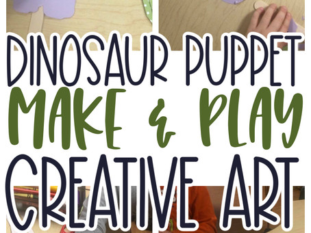 Brontosaurus Puppet Creative Art for Preschoolers