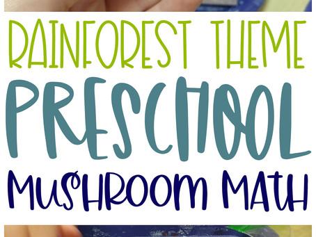 Mushroom Math Preschool Activity