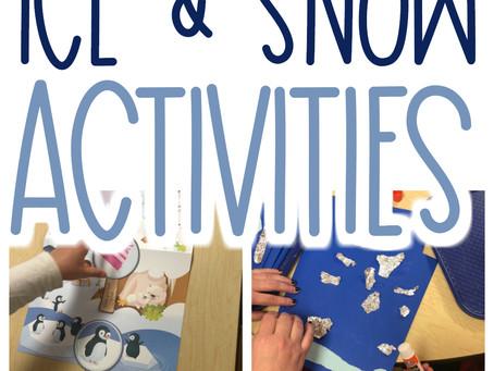 Ice and Snow Preschool Activities