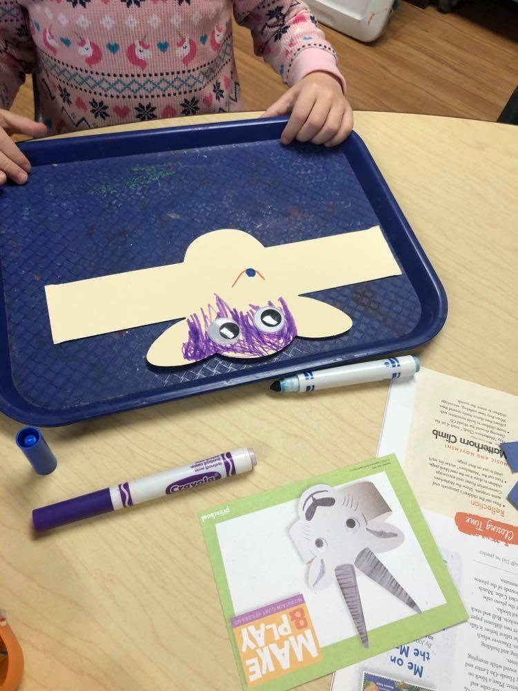 preschooler coloring mountain goat headband craft
