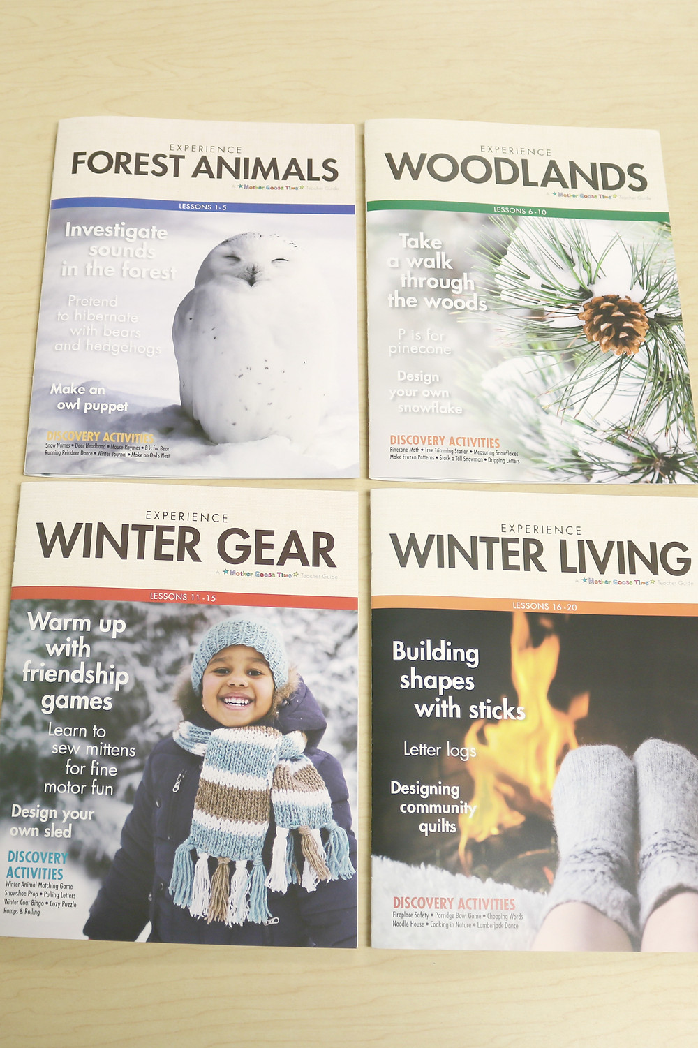Teacher Guides for every week of Winter in the Woods theme