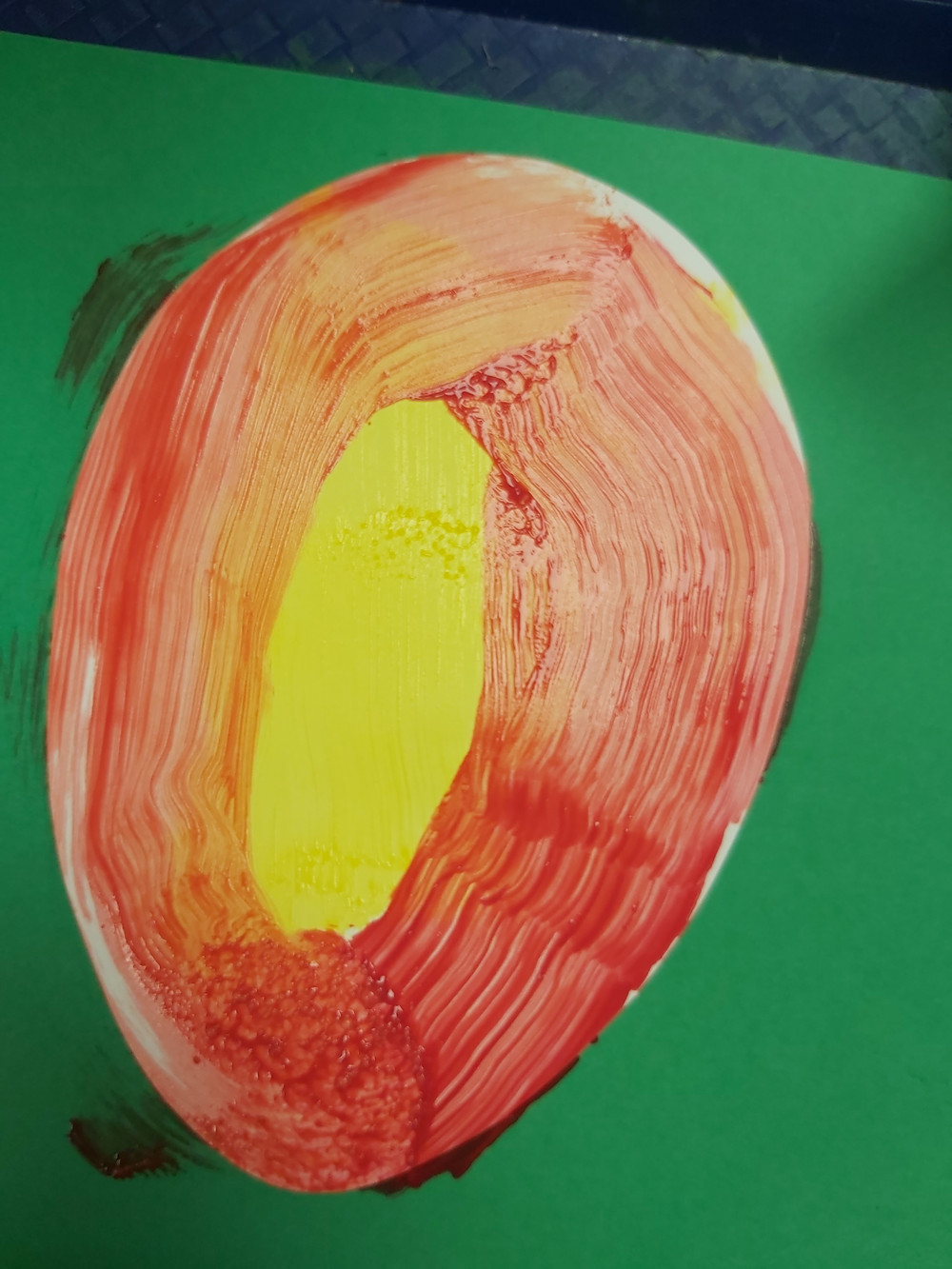 preschooler's mango process art