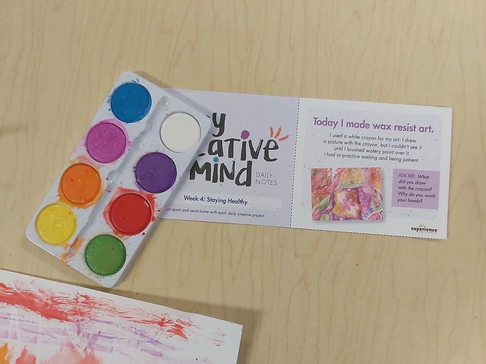 My Creative Mind Daily Note and watercolor palette