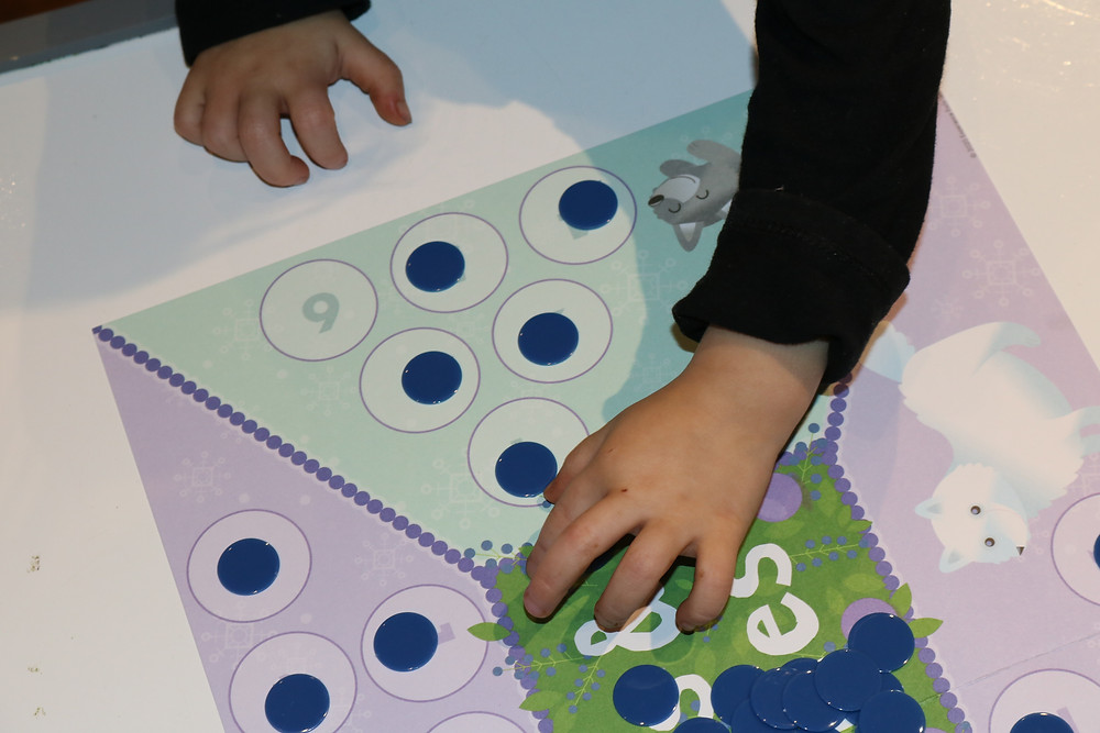 preschooler counting game pieces for preschool math game