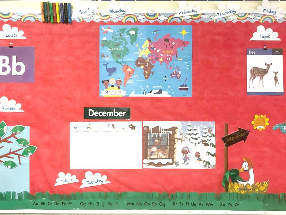 circle time bulletin board display