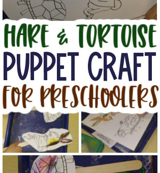 Hare & Tortoise Puppets for Preschoolers