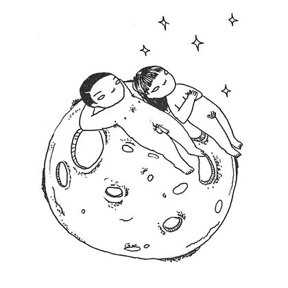 moon song drawing