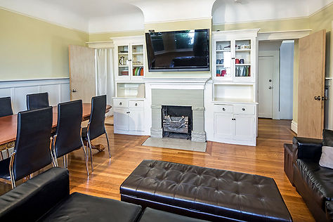 Berkeley Housing for Students - Living Room at Casa Cedar