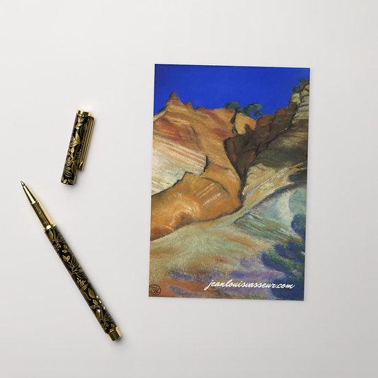 carte Roussillion signé