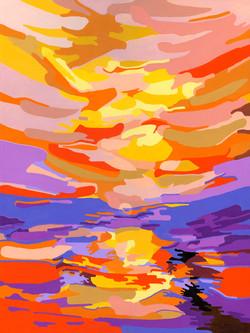 Coucher de soleil 60x80