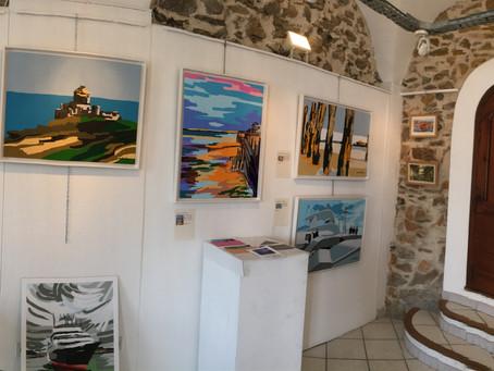 Deux panoramiques de mon exposition à La Galerie du Port
