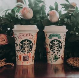 Copos Starbucks personalizados