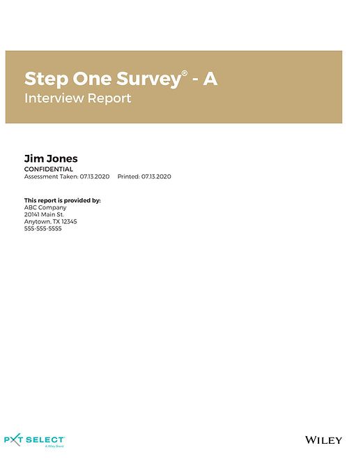 Step One Survey