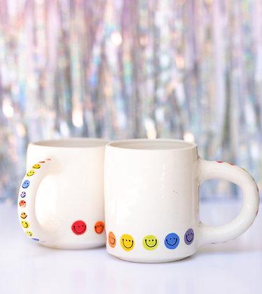 rainbow smiley mug