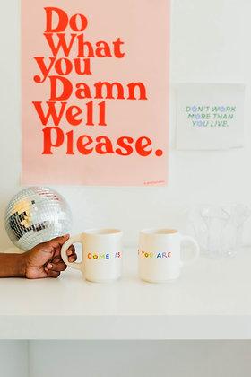 COME AS YOU ARE mug