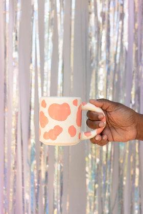 pink moo mug