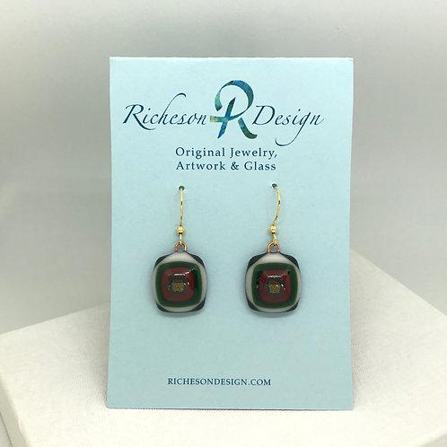 ARS fused glass earrings