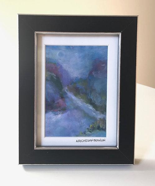 """MINI pastel """"River through the canyon"""""""