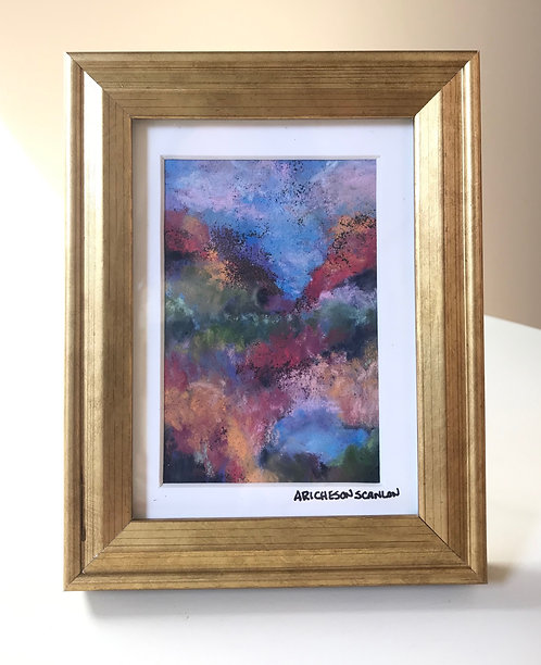 "MINI pastel ""Through the canyon"""
