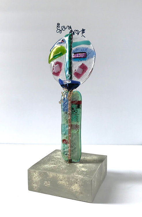 Take the Time to See  Glass Sculpture