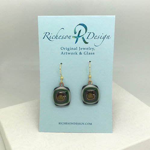 ARS fused glass earrings
