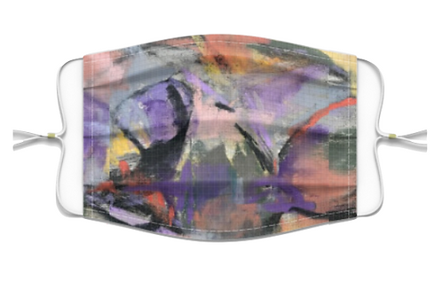 Purple Abstract Mask