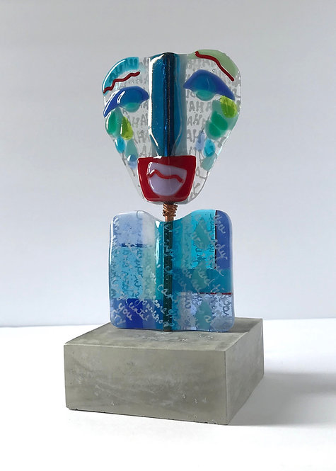 Laugh Till You Cry Glass Sculpture