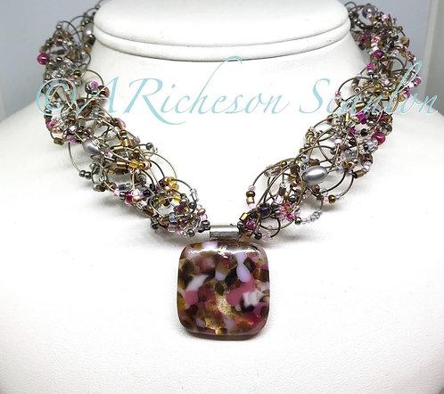 Plum Love Necklace