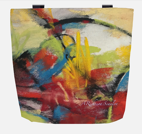 Happy Day Abstract Tote Bag