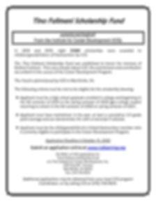 Tino scholarship, 2020 deadline extended
