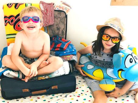 La valise de bébé pour les vacances