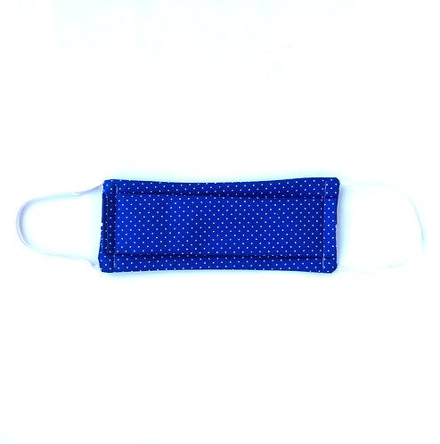 Masque en tissu lavable -Bleu roi