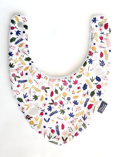 bavoir bandana coton made in france Ecureuil mon joli bavoir