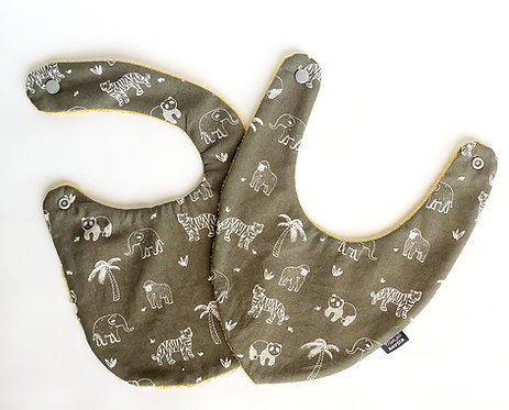 bavoir nourisson bandana made in france fermeture pression