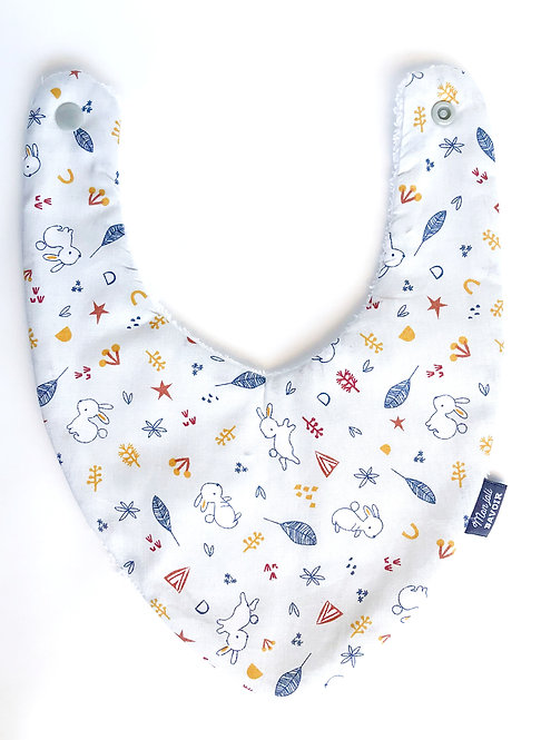 bavoir bandana coton made in france Lapin mon joli bavoir