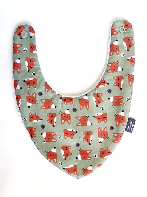 bavoir bandana made in france mon joli bavoir coton renard