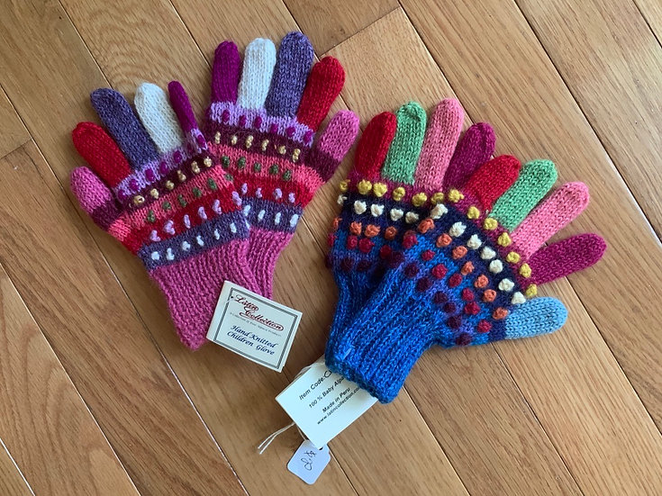 Kid's Colorful 5 Finger Gloves