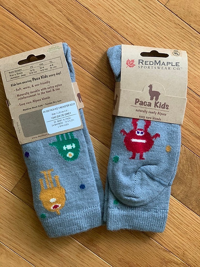 Kids Monster Alpaca Crew Socks