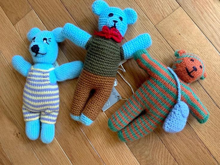 Hand knit Alpaca Teddy Bears
