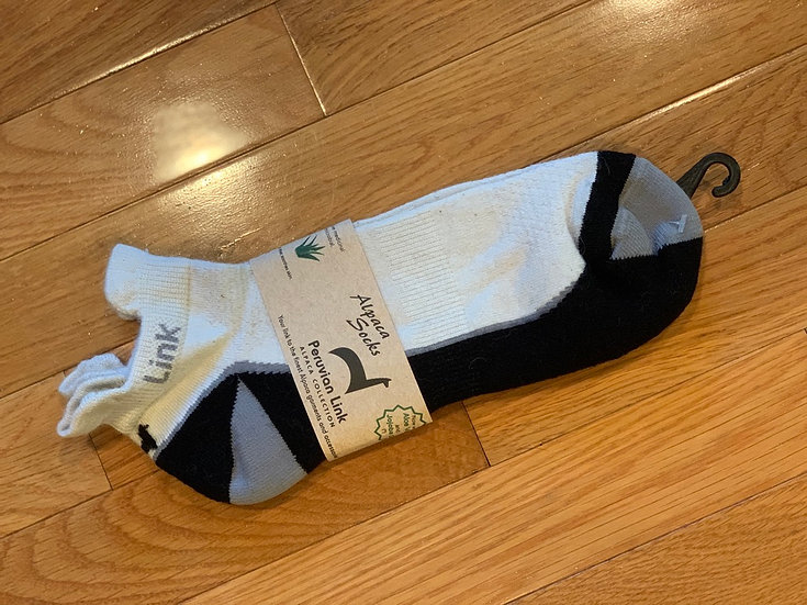 White and Gray Alpaca Ankle Socks