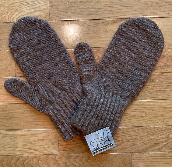 Brown Alpaca Mittens